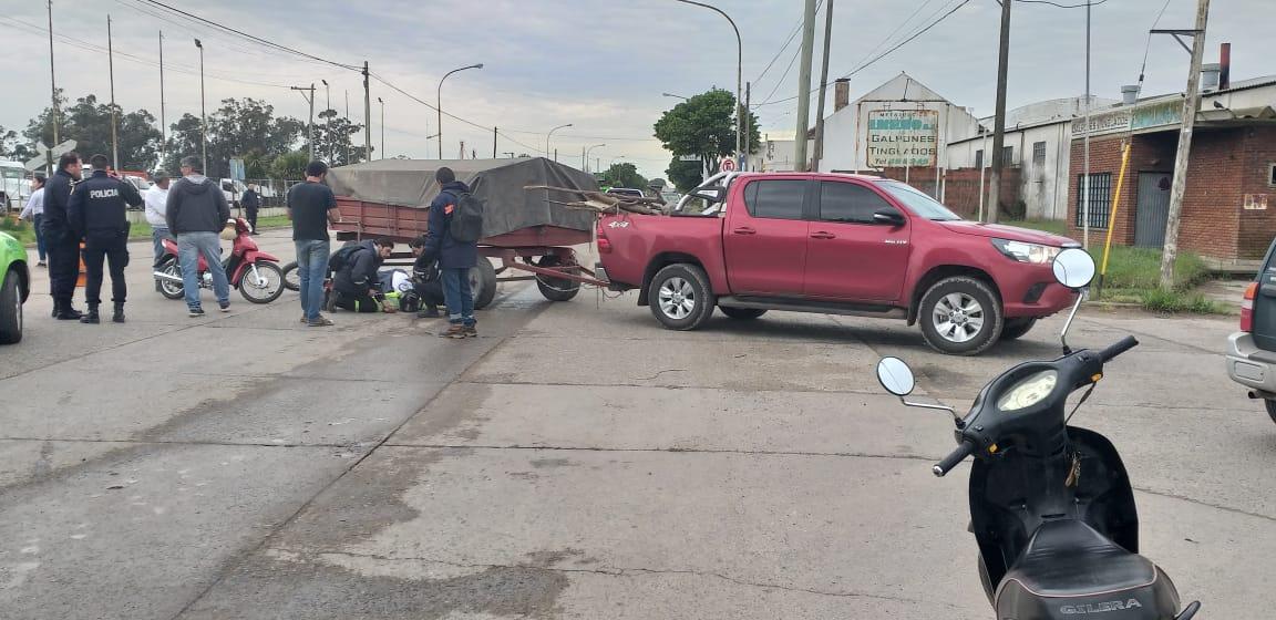Murió motociclista que había chocado contra un carro en Quequén - TSN Noticias